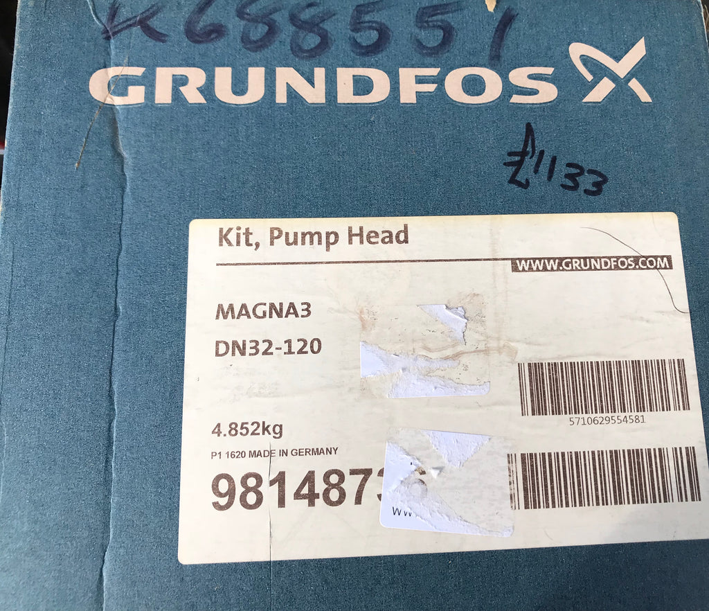 Grundfos Magna3 D 32-120 Replacement Pump Head Kit 98148736 240v #1651