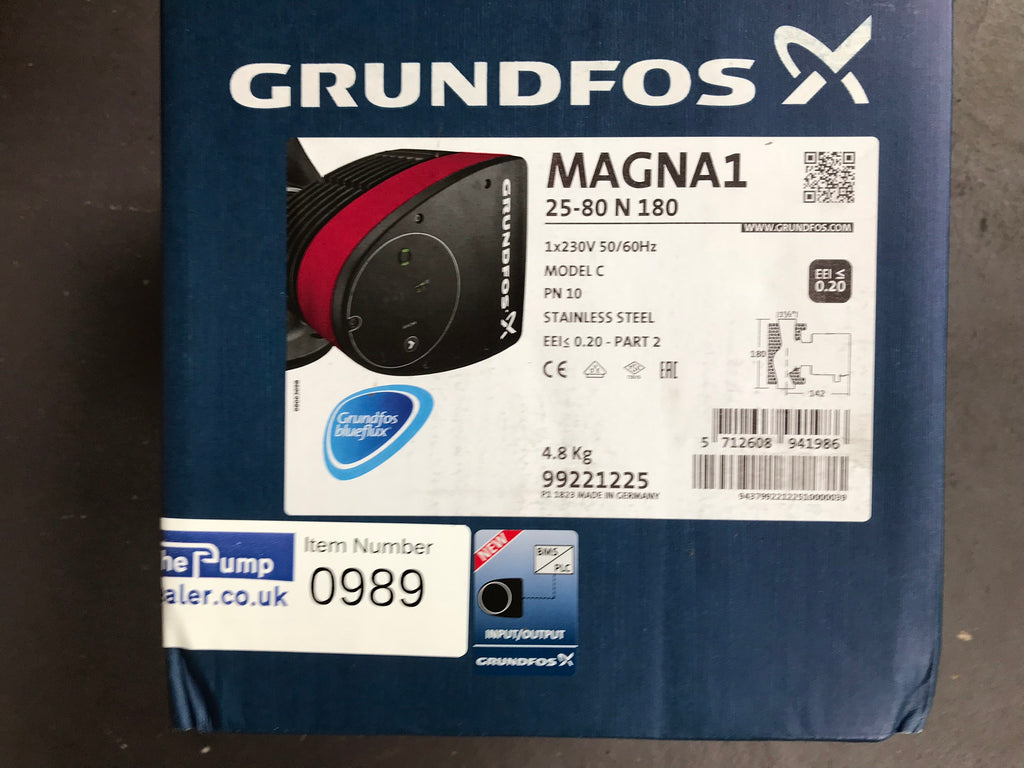 Grundfos Magna1 25 - 80 N 98254907 Stainless Steel Secondary Hot Water Pump #989