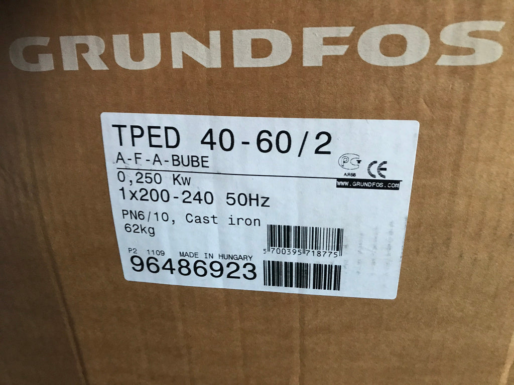 Grundfos TPED 40-60/2 96486923 240v in line pump circulating Variable #1781