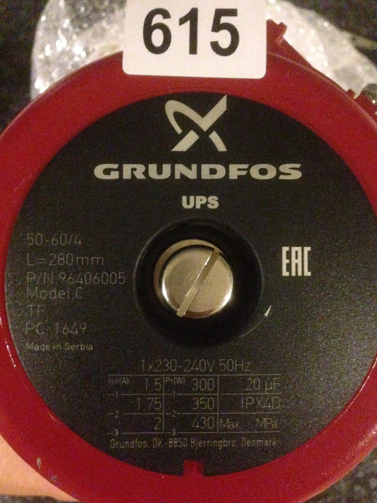 Grundfos UPS/UPSD 50-60/4 Circulator Replacement Pump Head 240V (96406005) #224
