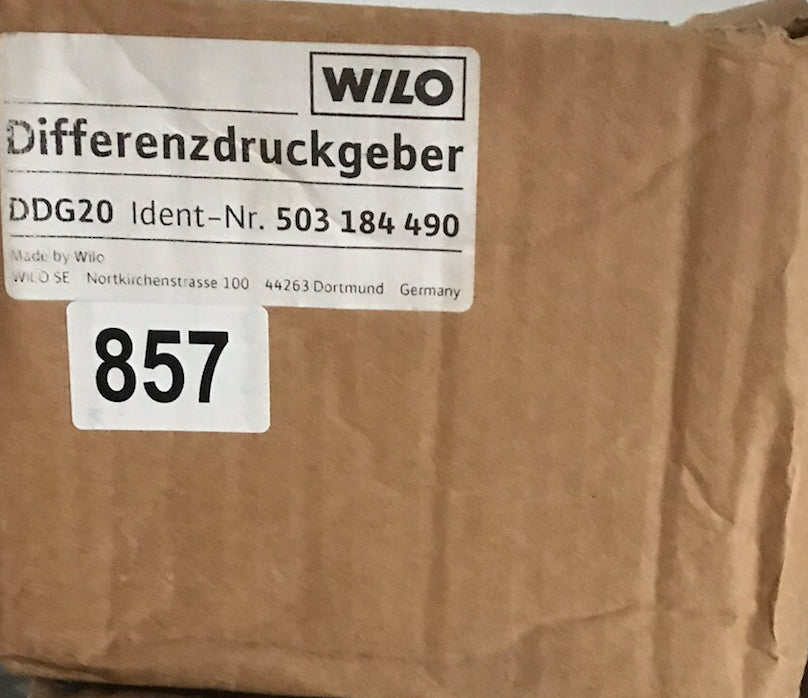 Wilo Differential Pressure Sensor Transducer DDG 20 503184490 Differenzdruck-Geber #857
