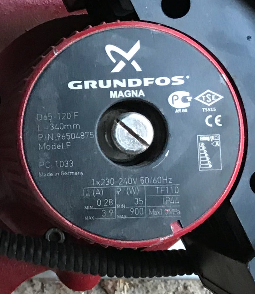 Grundfos MAGNA UPE(D) 65-120 Variable Speed Replacement Pump Head 240V 96499919 #1164 96402281 USED