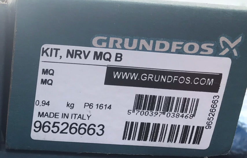 Grundfos Kit MQ Non Return Valve Model B 96526663 #1602