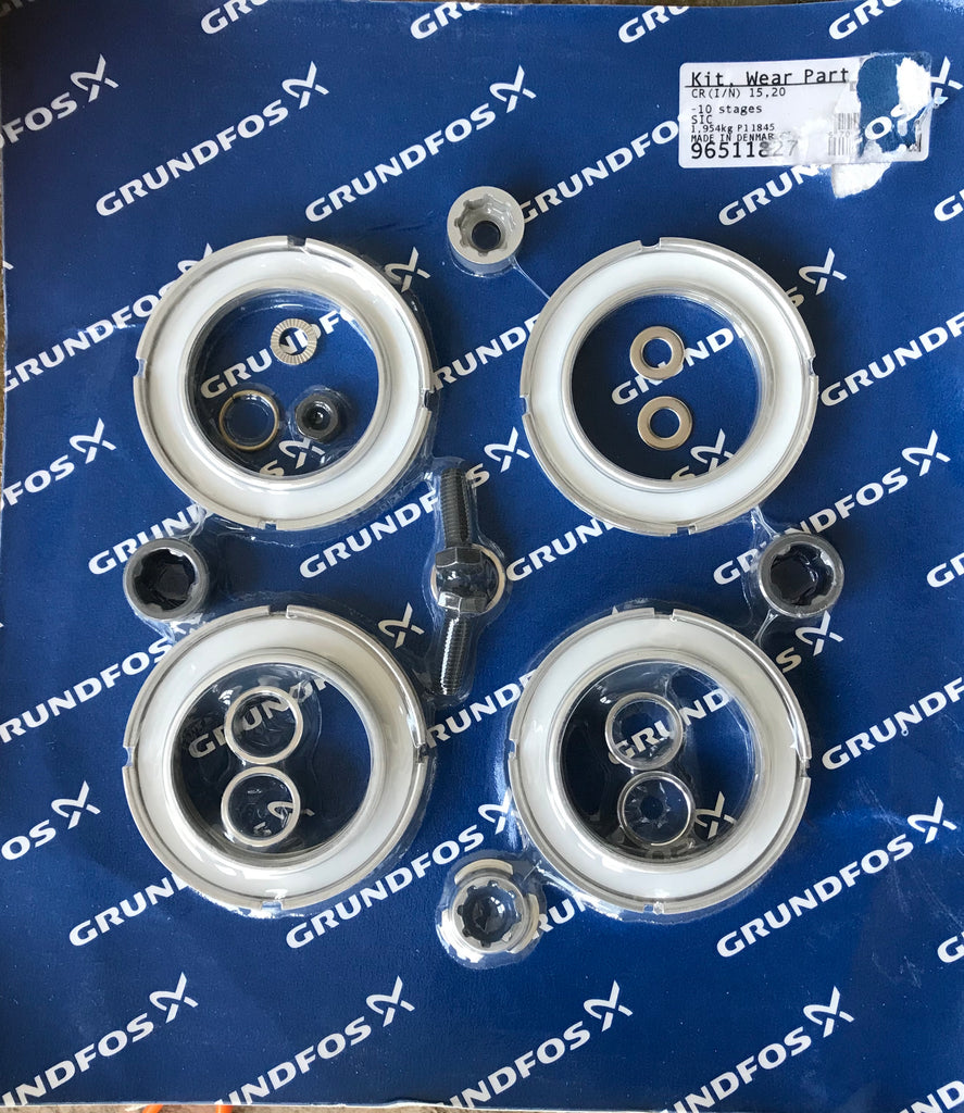 Grundfos 96511827 CR / CRI / CRN 15 & 20 wear parts kit 7-10 stages #1681