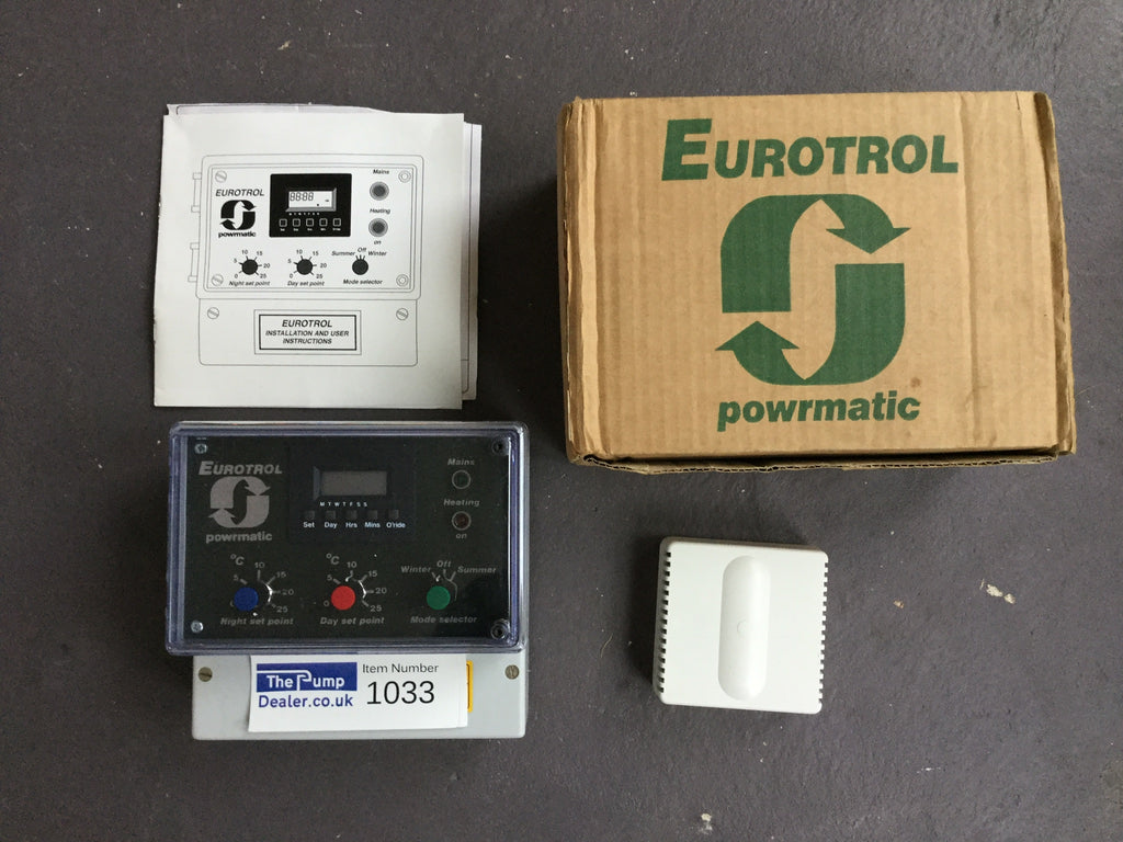 Powrmatic Eurotrol Control Unit Controls Remote Burner Time Clock #1033