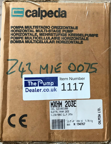Calpeda MXHM 203E Horizontal Multi-Stage Booster Pump 240V #1117
