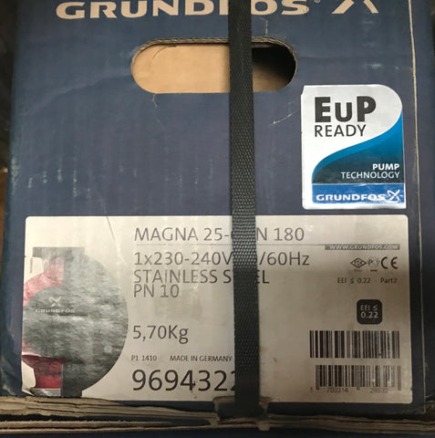 Grundfos MAGNA UPE 25-60 N Variable Speed Pump 240V 96943223 #1430