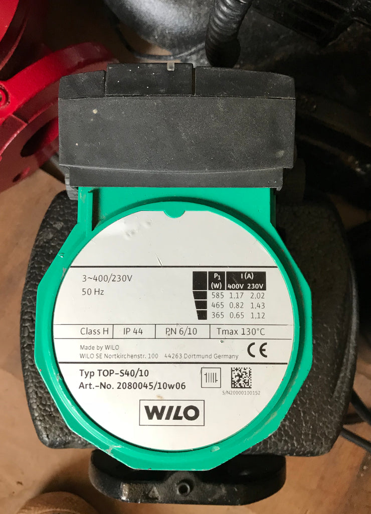 Wilo TOP S 40/10 Heating Circulator Pump 415v 2046604 #1790