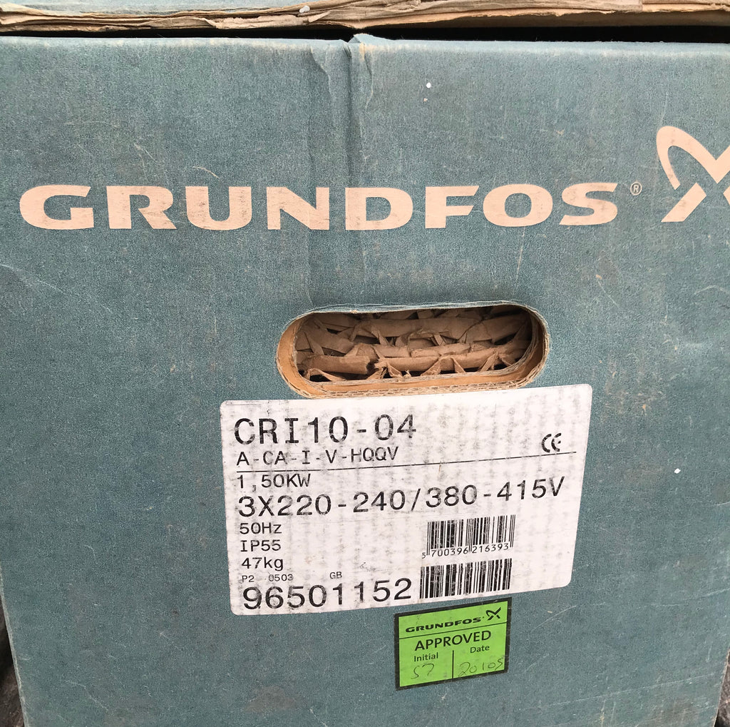 Grundfos CRI 10-4 Vertical Multistage Pump 415v 96501152 #1857  (Replaces CR 8-40)