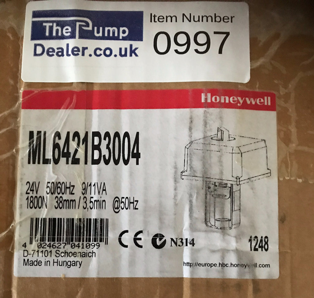 Honeywell ML6421B3004 Actuator 24v #997