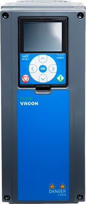 Vacon 100 Flow IP54 11kW 400V 3ph - Fan/Pump AC Inverter Drive Speed Controller VACON0100-3L-0023-5-FLOW+IP54 11Kw/23Amp 3 Phase Input / 3 Phase Output IP54