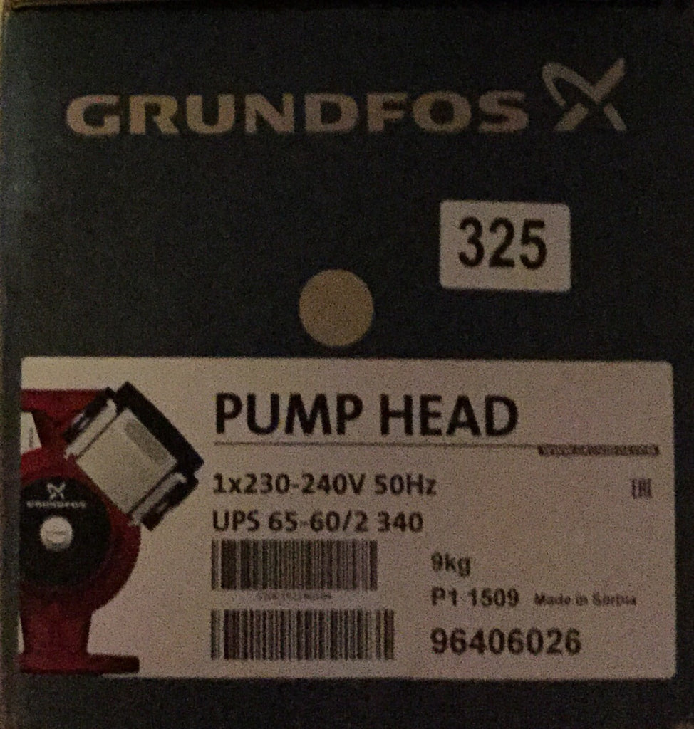 Grundfos UPS/UPSD 65-60/2 Circulator Replacement Pump Head 240V (96406026) #325