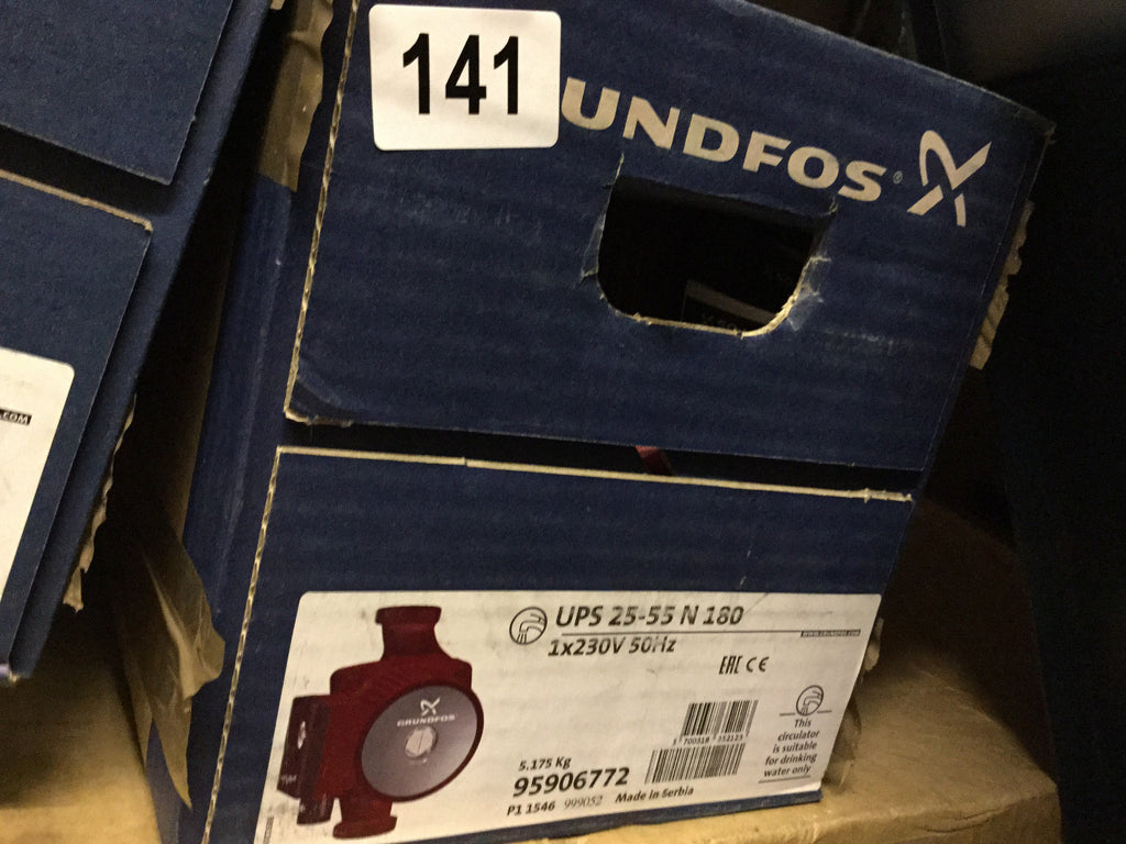 Grundfos UPS 25-55N (180) Hot Water Service Circulator 240V pump stainless 95906772 #85