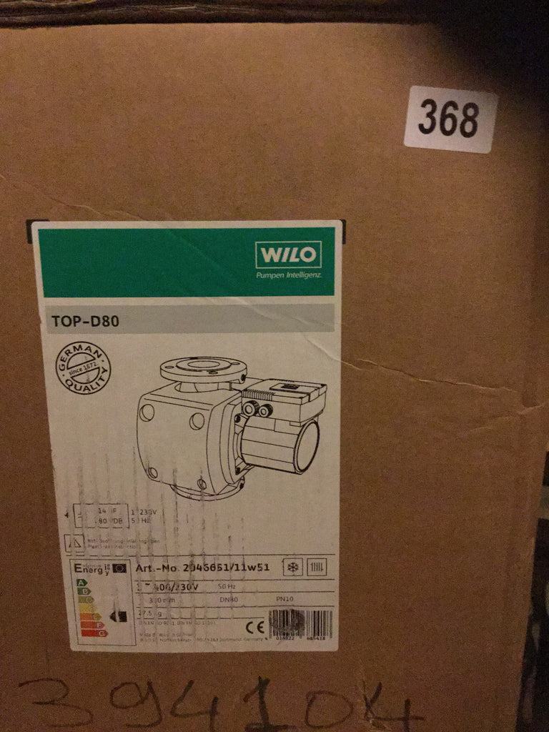 Wilo TOP D80 Heating Circulator Pump 2046651 400v 415v