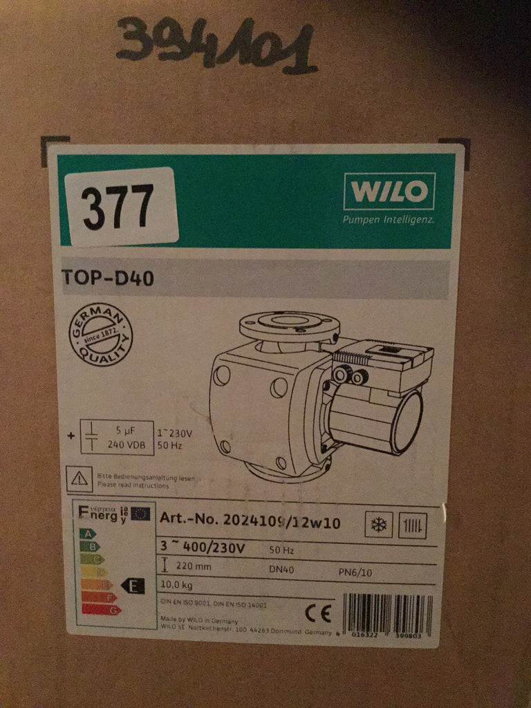 Wilo Top D40 415v/240v Heating Circulator Pump 2024109 #377