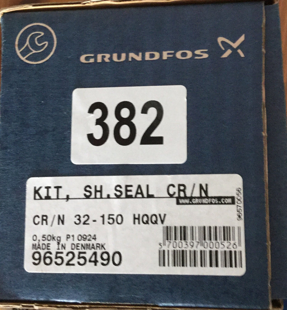 Grundfos CR / N MTR 32 45 64 90 120 150 SHAFT SEAL KIT HQQE (96525490) Crn #382/1127