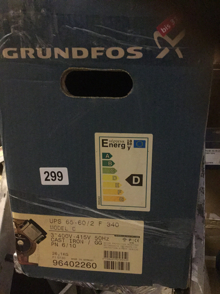 Grundfos UPS 65-60/2f Heating Circulator Pump 415v 96402260 #299