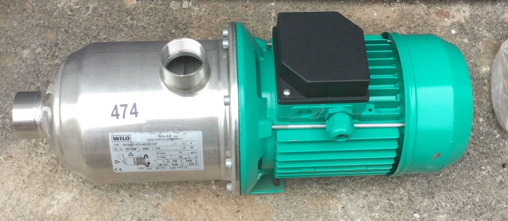 Wilo MHE 805-1/E/3-400-50 4024308 Stainless horizontal multistage pump 415v #474