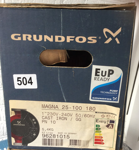 Grundfos MAGNA UPE 25-100 Variable Speed Pump 240V 96281015 #504