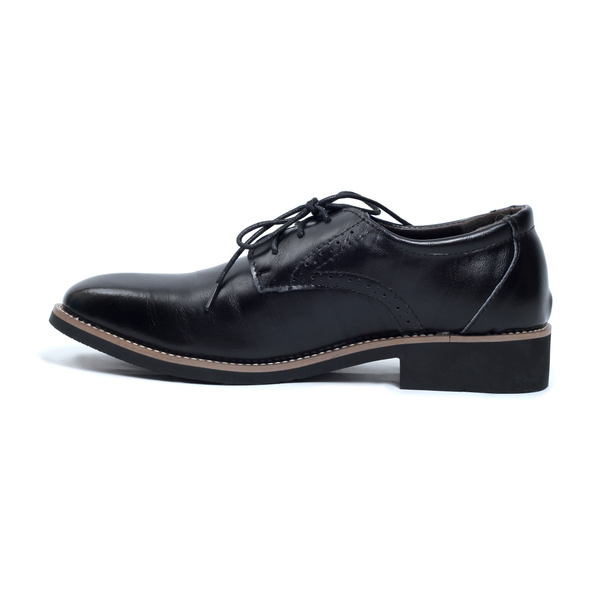 Black Tomboy Toes Downtown Dapper Semi-Formal Derby Oxford Shoe in Vegan Leather - Men's Dress Shoe for Women