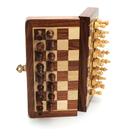 7 Inch Wood Magnetic Folding Chess Set (4207A)