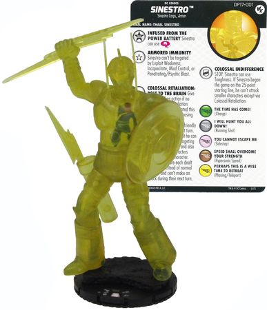 Heroclix - Colossal Sinestro - 2017 Convention Exclusive