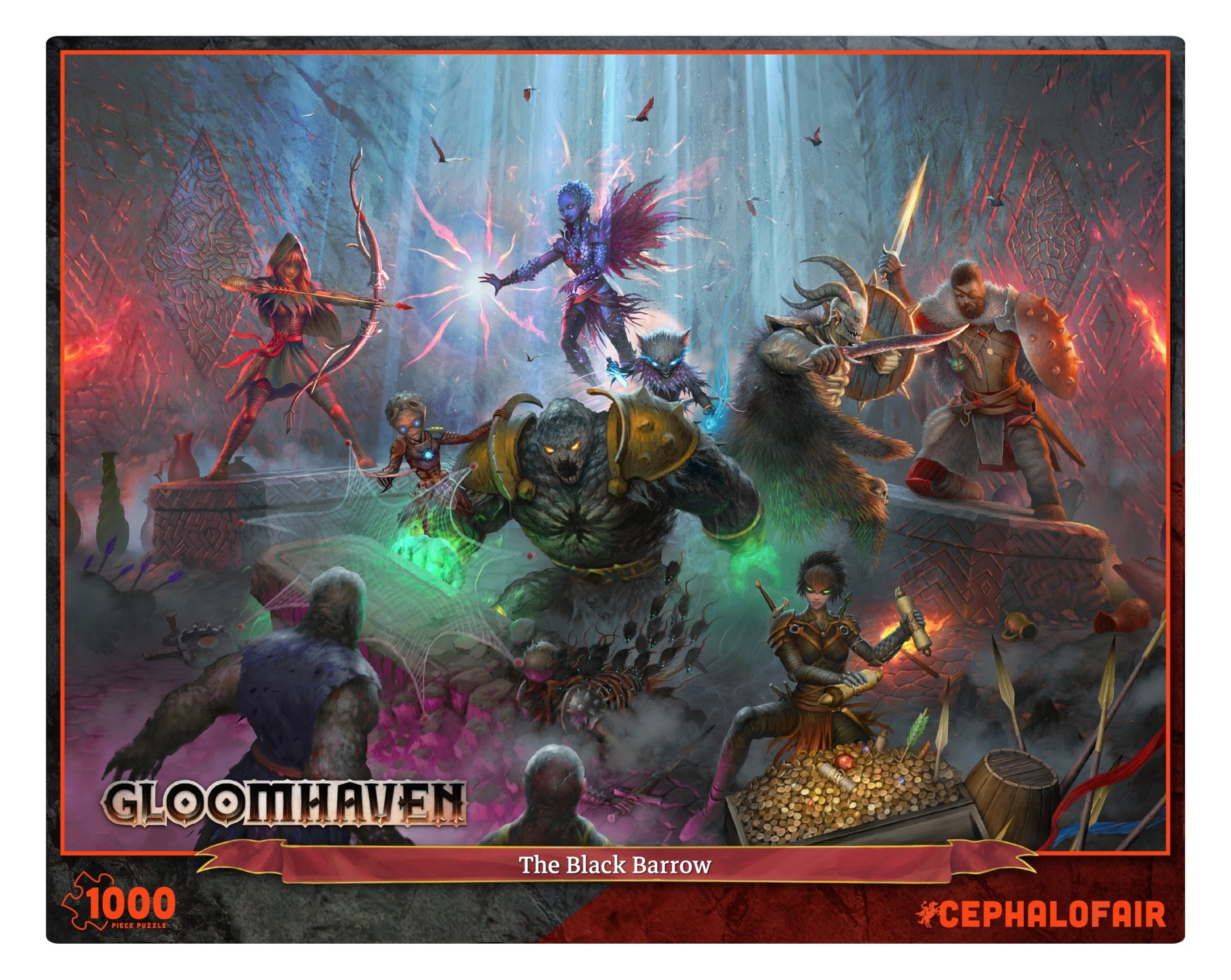 Gloomhaven: The Black Barrow Puzzle (1000 pc) (Pre-Order)