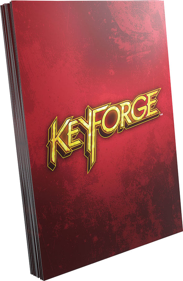 KeyForge: Logo Sleeves - Red (40)