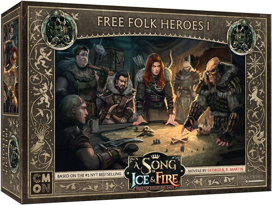 A Song of Ice & Fire Tabletop Miniatures Game: Free Folk Heroes Box 1