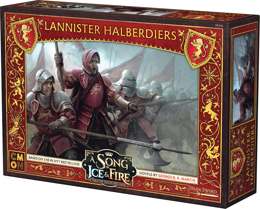A Song of Ice & Fire Tabletop Miniatures Game: Lannister Halberdiers Unit Box
