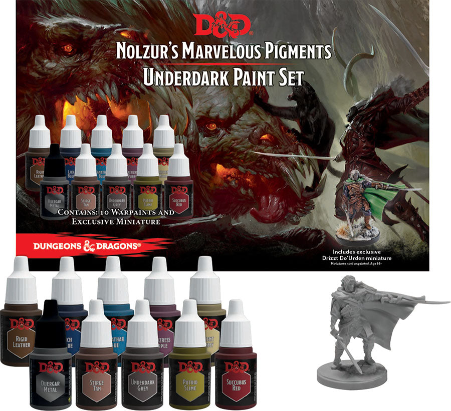 Dungeons and Dragons Nolzur's Marvelous Pigments: Underdark Paint Expansion Set