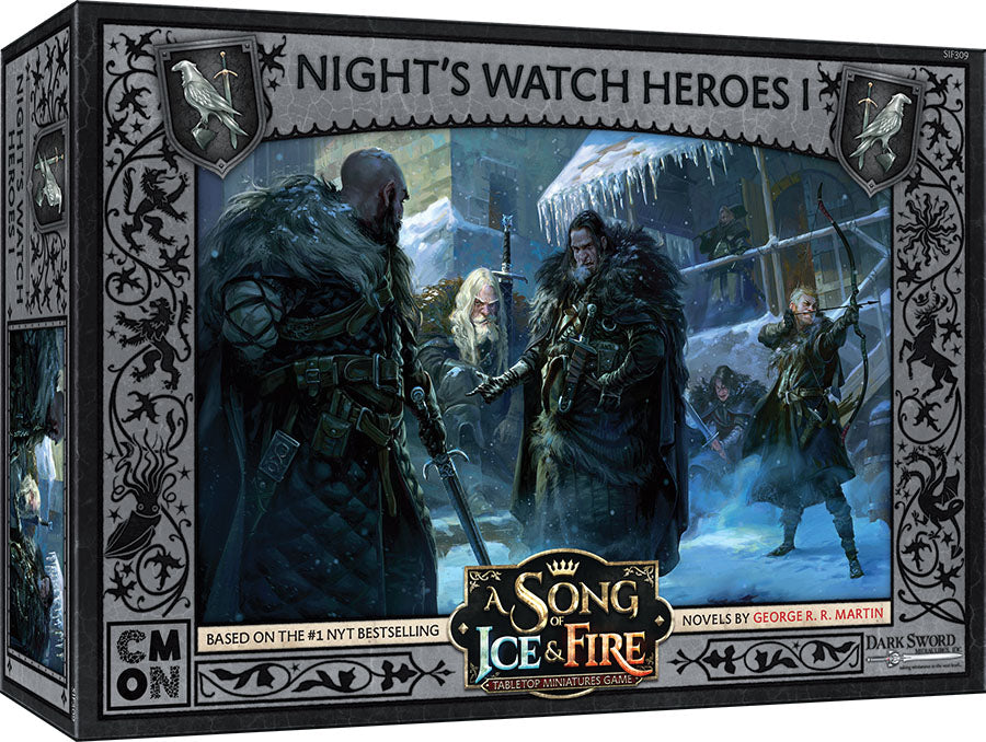 A Song of Ice & Fire Tabletop Miniatures Game: Night's Watch Heroes Box I