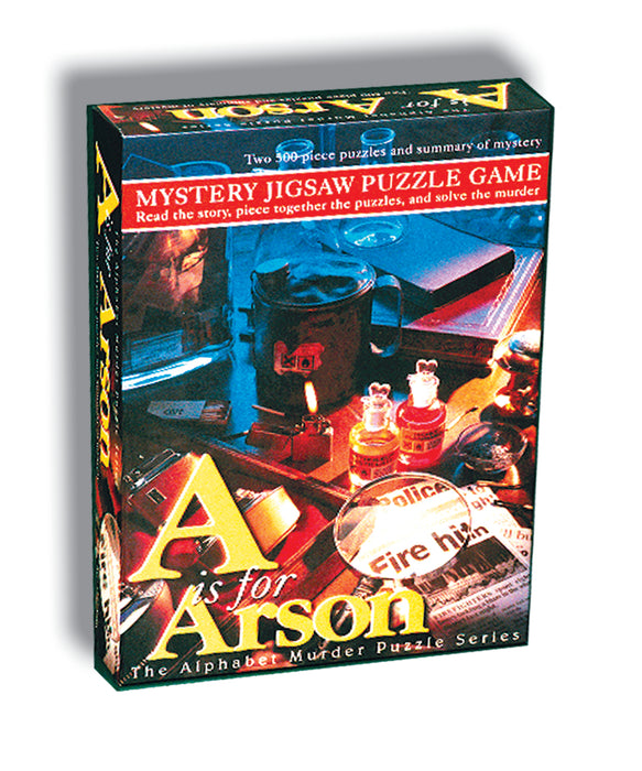 Mystery Jigsaw Puzzle Game – A is for Arson