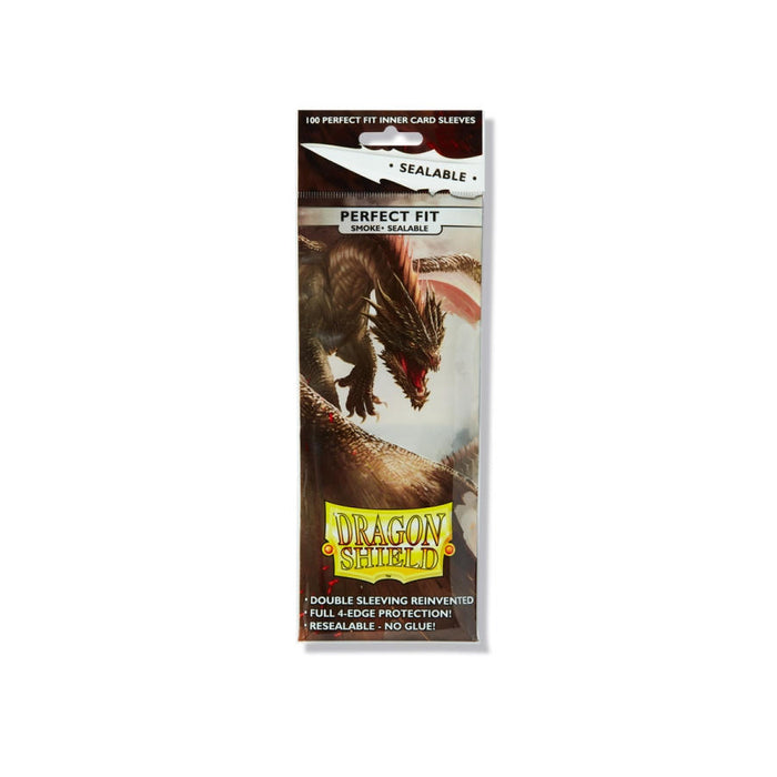 Dragon Shields - Perfect Fit Sealable 100ct Pack - Smoke
