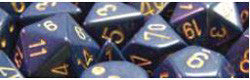 D10 Opaque Dusty Blue/Copper Dice, 10Ct - Boardlandia