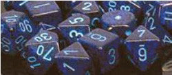 7 Die Set - Speckled Cobalt With Blue - Boardlandia
