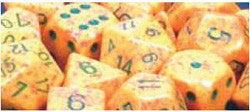 7CT SPECKLED POLY LOTUS DICE SET - Boardlandia