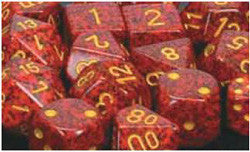 7CT SPECKLED POLY MERCURY DICE SET