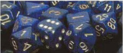 7 Die Set - Speckled Golden Cobalt With White - Boardlandia