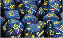 7CT SPECKLED POLY TWILIGHT DICE SET