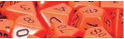 D6 -- 16Mm Opaque Dice, Orange/ Black, 12Ct - Boardlandia