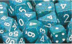 D6 -- 16Mm Speckled Dice, Sea, 12Ct