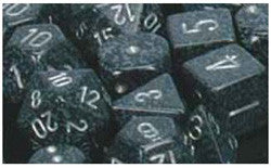 D6 -- 16Mm Speckled Dice, Ninja, 12Ct - Boardlandia