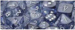 7CT NEBULA POLY DICE SET, BLACK/WHITE