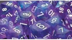 D6 -- 16Mm Borealis Dice, Purple/White, 12Ct - Boardlandia
