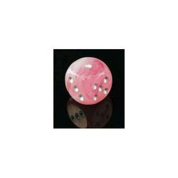 D6 -- 16Mm Ghostly Glow Dice, Pink/Silver, 12Ct - Boardlandia