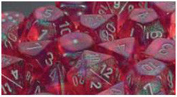 D6 -- 12Mm Borealis Dice, Pink/Silver, 36Ct - Boardlandia
