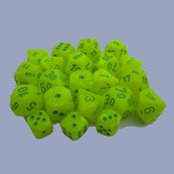 D6 -- 12Mm Vortex Dice, Electric Yellow/Green, 36Ct - Boardlandia
