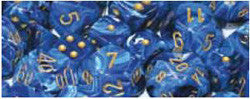 D6 -- 12Mm Vortex Dice, Blue/Gold, 36Ct - Boardlandia