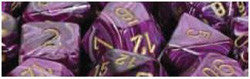 D6 -- 12Mm Vortex Dice, Purple/Gold, 36Ct - Boardlandia
